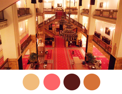 Grand Budapest Hotel paleta boja