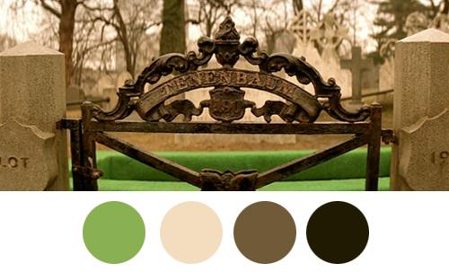 Uklapanje zelnih i tamnih tonova