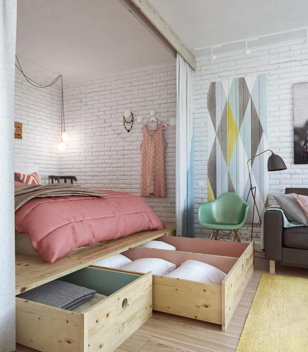 Krevet sa prostorom za odlaganje