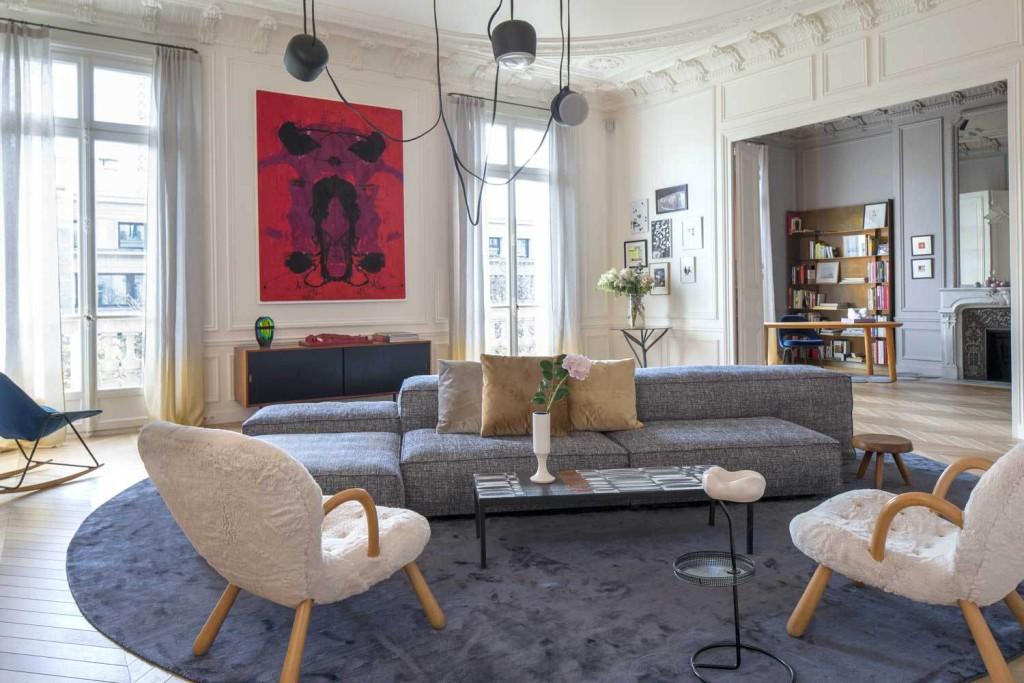 Dnevna soba ekskluzivnog stana u Parizu