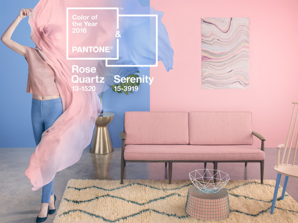 Pantone colors of the year 2016 Rose Quartz Serenity
