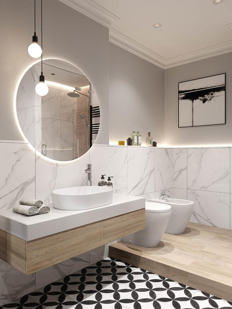 Elegantan Stan u Sankt Peterburgu Master kupatilo 02