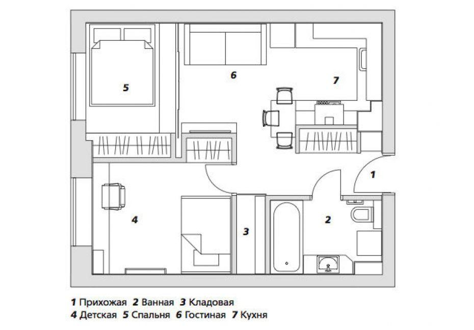 Osnova reorganizovanog stana