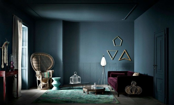 jewel-tone-interiors-purple-sofa-and-deep-teal-wall
