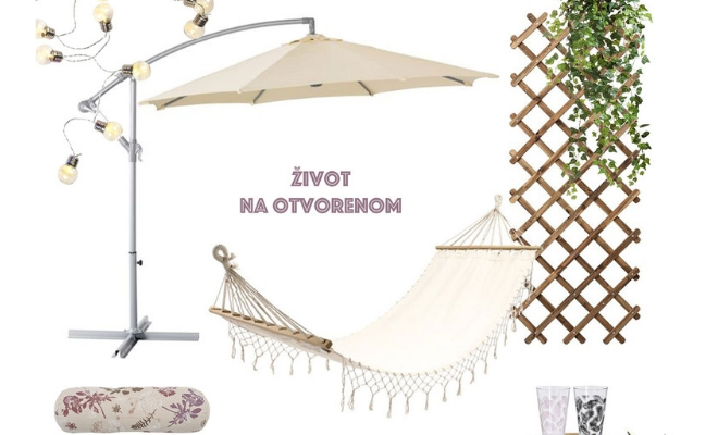 dizajnersko rešenje za uređenje terase ili dvorišta