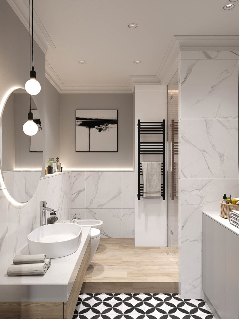 Elegantan Stan u Sankt Peterburgu Master kupatilo 01