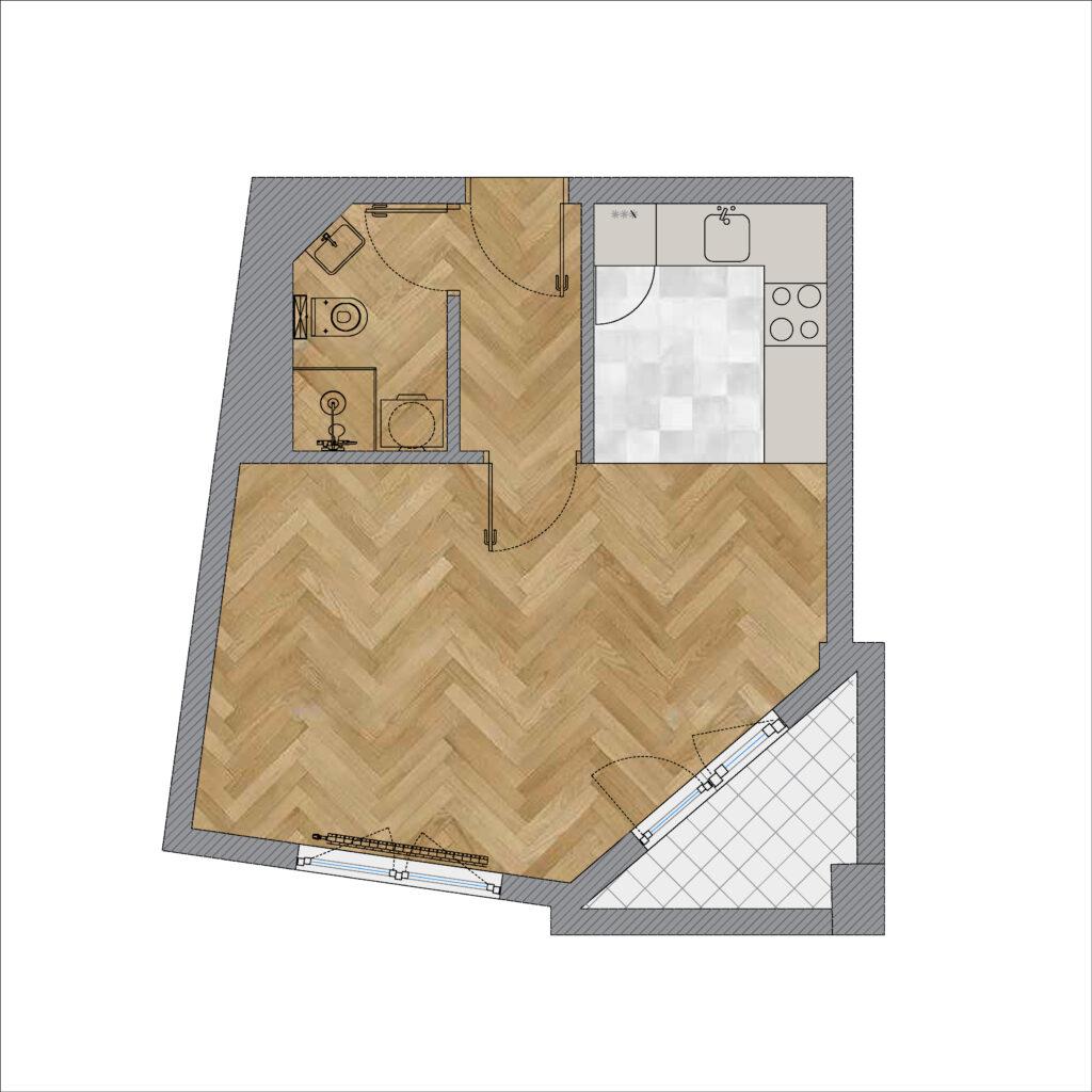 Uređenje malog stana - pre