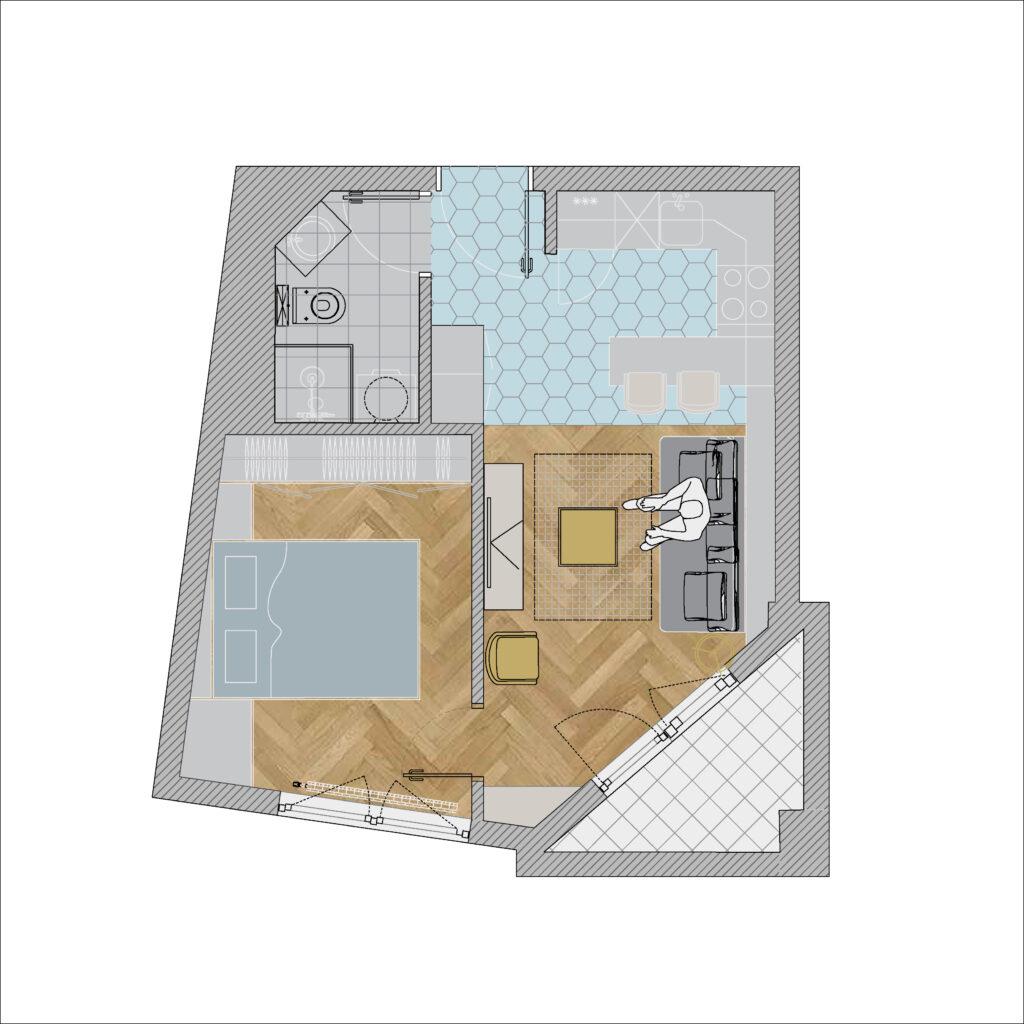 Uređenje malog stana - posle