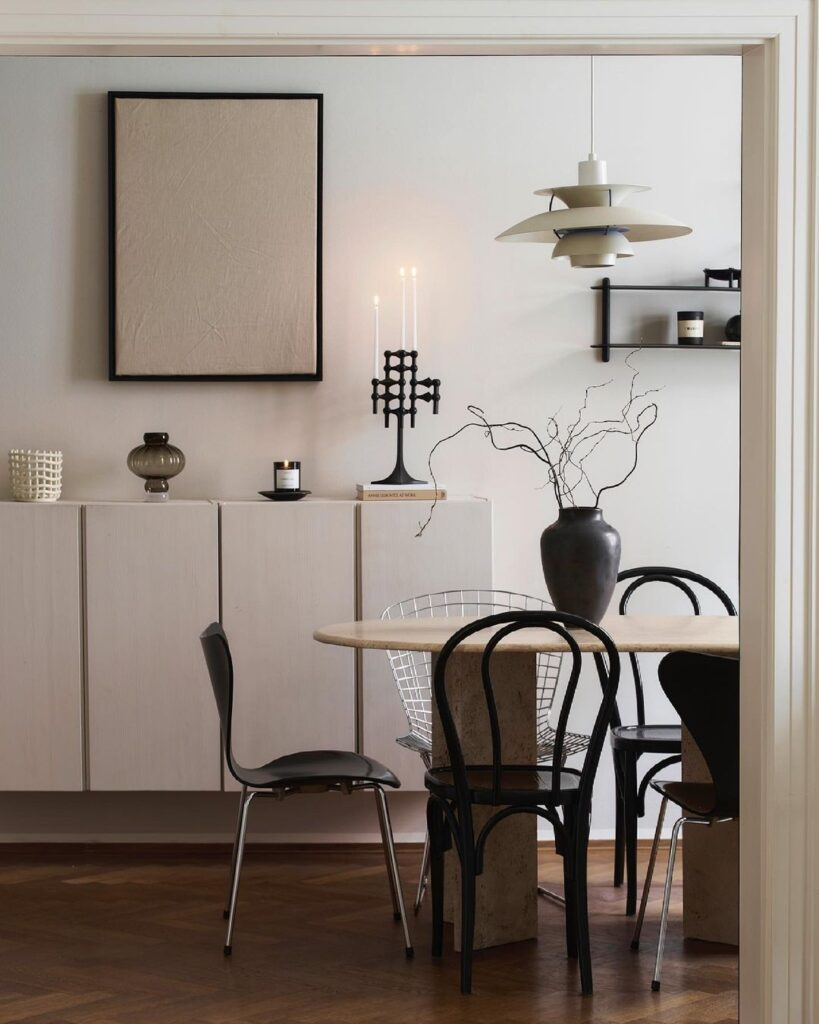 Skandinavski stil - rasparene stolice